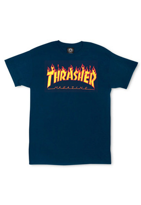 THRASHER트레셔 THRASHER Flame Tee - Navy