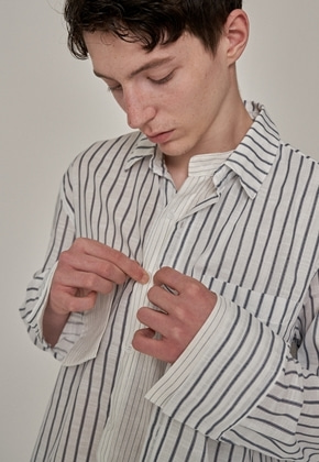 Trip LE Sens트립르센스 ST LAYERED LINEN SHIRTS WHITE