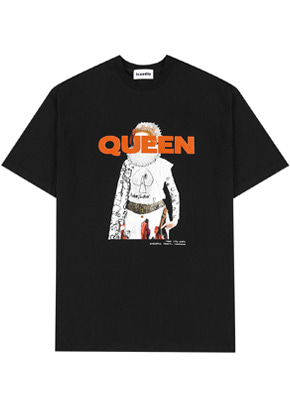 INNER CITY AUDIO이너시티오디오 QUEEN GRAPHIC T-SHIRTS BLACK