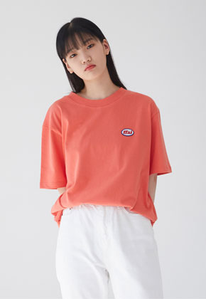 FFAI파이 BASIC WAPPEN T SHIRTS ORANGE