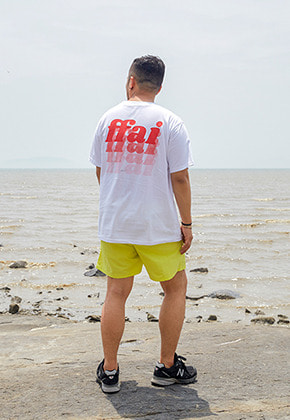 FFAI파이 GRADATION BACK LOGO T SHIRTS WHITE