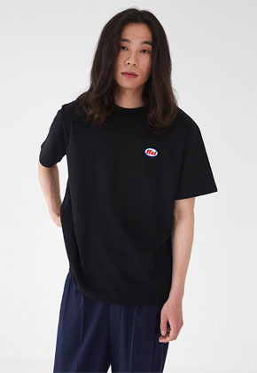 FFAI파이 BASIC WAPPEN T SHIRTS BLACK