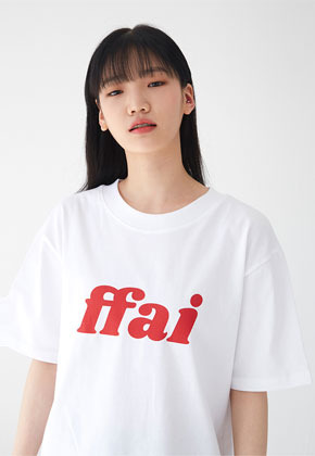 FFAI파이 BIG LOGO T SHIRTS WHITE