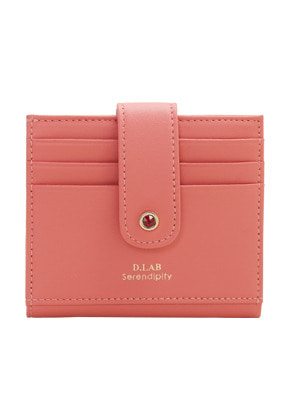 D.LAB디랩 (탄생석지갑) Fiore Half Wallet - Coral