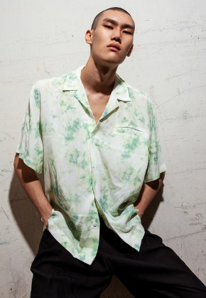 Object오브젝트 TIE DYE HAWAIIAN SHIRT (MINT)