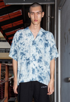 Object오브젝트 TIE DYE HAWAIIAN SHIRT (BLUE)