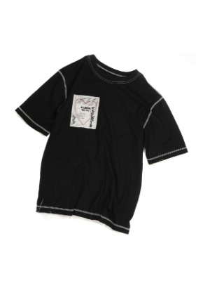 Double:L더블엘 HEART PATCH  T-SHIRTS