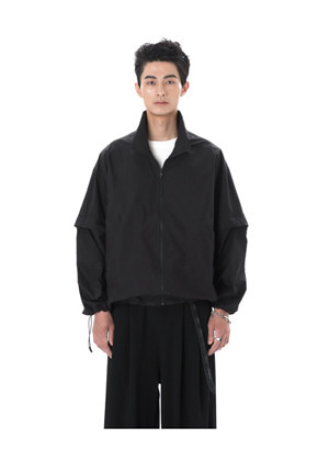 Ooparts오파츠 High-Neck Zip-Up Jacket Black