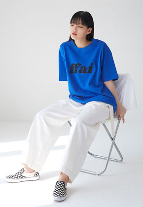 FFAI파이 BIG LOGO T SHIRTS BLUE