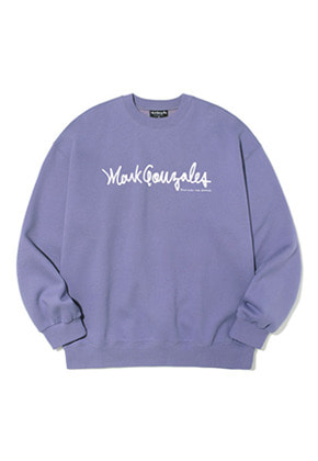 Markgonzales마크곤잘레스 M/G SIGN LOGO CREWNECK PURPLE