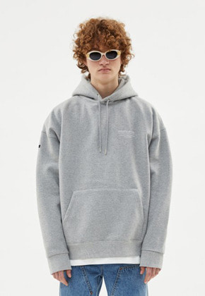 Anderssonbell앤더슨벨 UNISEX FULL NAME LOGO EMBROIDERY HOODIE atb381u(GREY)