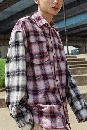 Object오브젝트 PURPLE FLANNEL SHIRT