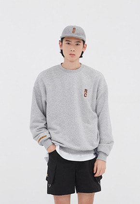 Romantic Crown로맨틱크라운 RC LOGO SWEATSHIRT_GREY