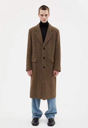 Anderssonbell앤더슨벨 JAMES SINGLE STRAP LONG COAT awa277m(BROWN CHECK)