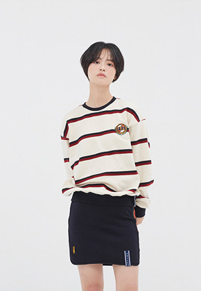 Romantic Crown로맨틱크라운 21C BOYS STRIPED SWEATSHIRT_OATMEAL