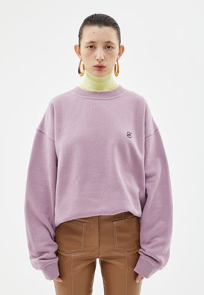 Anderssonbell앤더슨벨 UNISEX SIGNATURE EMBLEM HEAVY SWEATSHIRT atb231u(L.Purple)
