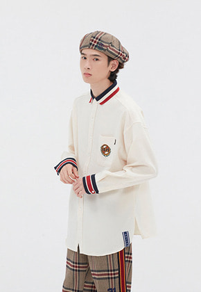 Romantic Crown로맨틱크라운 21C BOYS COLLAR SHIRT_OATMEAL