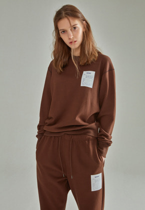 NOHANT노앙 NAME LABEL SWEATSHIRT BROWN