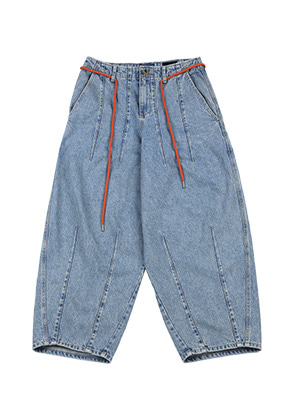 AJO BY AJO아조바이아조 Washed Denim Oversized Pants [Blue]