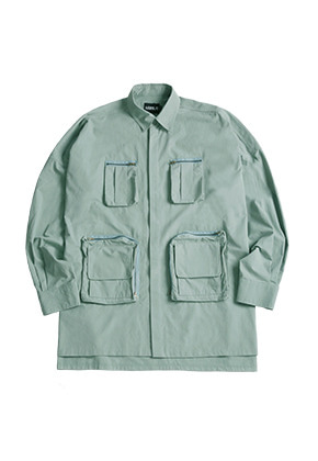 AJO BY AJO아조바이아조 Oversized Fisherman Shirt [Mint]