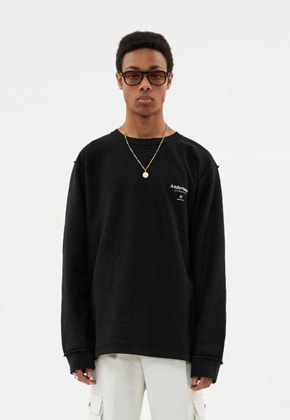 Anderssonbell앤더슨벨 ANDERSSON SIGNATURE LOGO L/S T-SHIRT atb265u(Black)