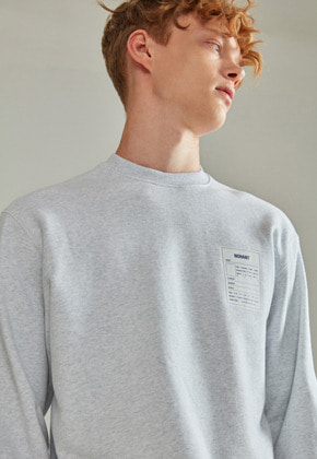 NOHANT노앙 NAME LABEL SWEATSHIRT LIGHT GRAY