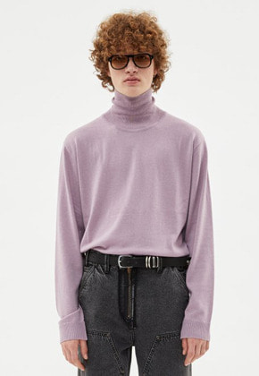Anderssonbell앤더슨벨 (MEN)MARCO CASHMERE ROLL NECK SWEATER atb255m(PURPLE)