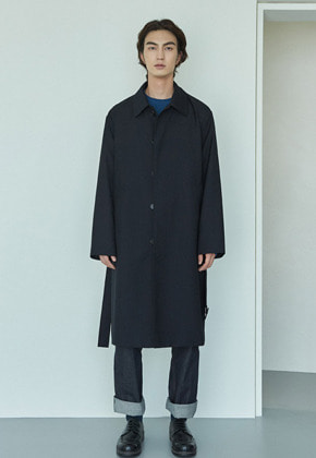 MMGL미니멀가먼츠랩 Belted mac coat (Dark-Navy)