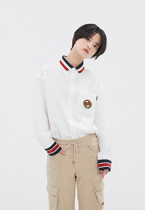 Romantic Crown로맨틱크라운 21C BOYS COLLAR SHIRT_WHITE