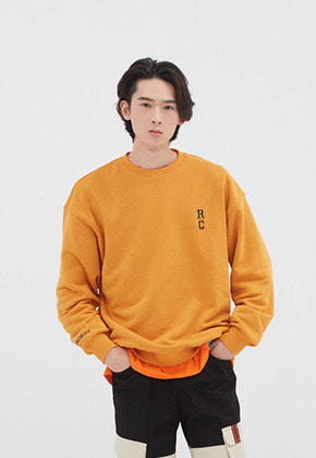 Romantic Crown로맨틱크라운 RC LOGO SWEATSHIRT_YELLOW