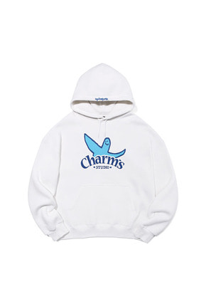 Markgonzales마크곤잘레스 MG x CHARM`S ARCH HOODIE WHITE