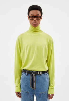 Anderssonbell앤더슨벨 (MEN)MARCO CASHMERE ROLL NECK SWEATER atb255m(Lime)