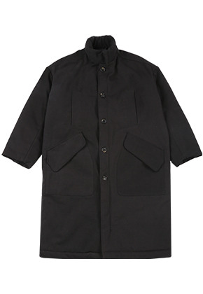 AJO BY AJO아조바이아조 Tri Mixed Padding Coat [Black]