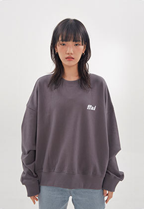 FFAI파이 ffai CROP LOGO SWEAT-SHIRT_Dark Gray