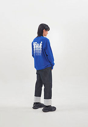 FFAI파이 ffai SMALL LOGO SWEAT-SHIRT_Blue