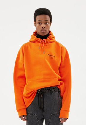 Anderssonbell앤더슨벨 UNISEX FULL NAME LOGO EMBROIDERY HOODIE atb381u(ORANGE)