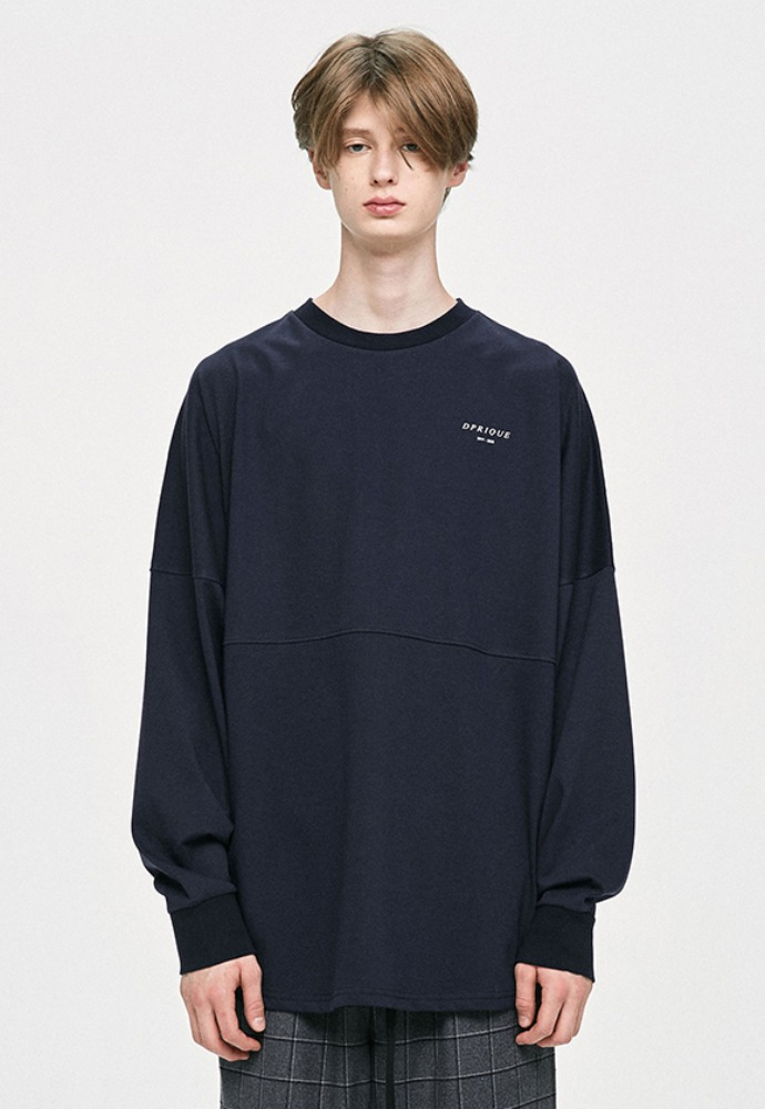 D.prique디프리크 Crewneck T-Shirt - Navy
