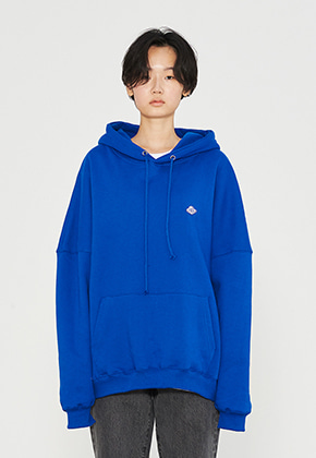 INNER CITY AUDIO이너시티오디오 PATCH OVERFIT HOODIE BLUE