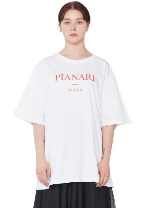 PIANARI피어나리 'Make' Logo T-shirt (Red)
