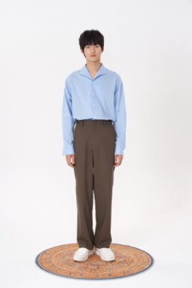 STU에스티유 Loosefit slacks brown