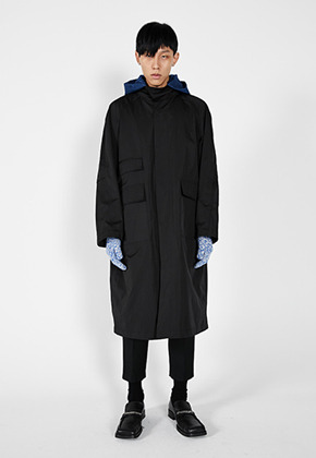 LLUD러드 (LLUD x Afterpray) Over Shell Coat Black