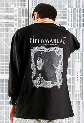 Field Manual필드메뉴얼 PUNISHER TEE black