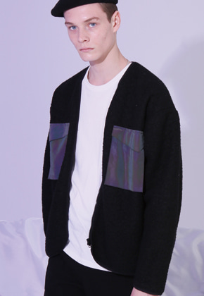 MISTER CHILD미스터차일드 WOOL POCKET CARDIGAN (BLACK)