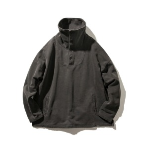 Rayshiso레이시소 O.S. Pigment W Mock neck Jumper Charcoal