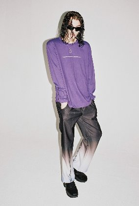 Sserpe쎄르페 Sky Blue Rave Gradation Banding Pants