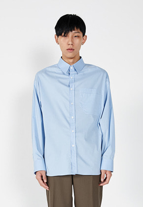 LLUD러드 [2차 리오더 9월30일 예약배송](LLUD x STU) Double Pocket Shirt Sky Blue