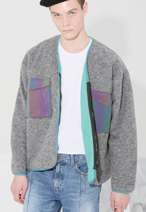 MISTER CHILD미스터차일드 WOOL POCKET CARDIGAN (GRAY)