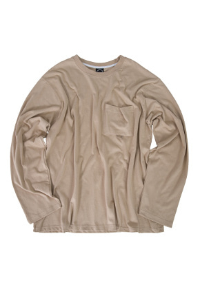 Kruchi크루치 Pocket Long Sleeve - (Beige)