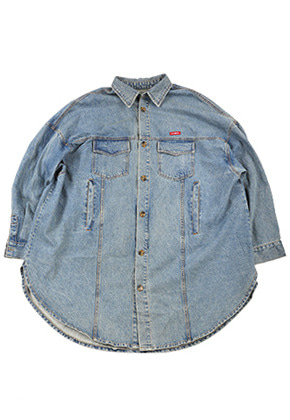 AJO BY AJO아조바이아조 Oversized Washed Denim Jacket [Blue]