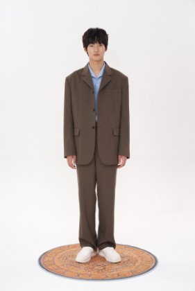 STU에스티유 3 Button overfit hook blazer brown